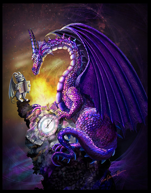 "Amethyst Time Dragon 11"" x 14"" Print"