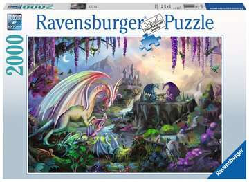 Ravensburger 2000 piece Dragon Valley Puzzle Signed by the Artist