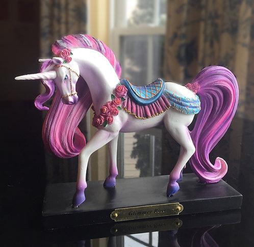 Glimmer Rose Unicorn Figurine