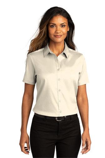 Port Authority® Ladies Short Sleeve SuperPro React ™ Twill Shirt