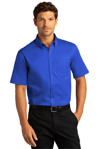 Port Authority® Short Sleeve SuperPro React™Twill Shirt