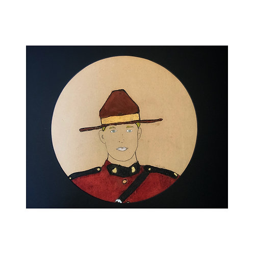 LIMITED EDITION BLOND HAIR MOUNTIE PAINTING