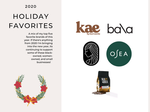 My Five Favorite 2020 Holiday Brands