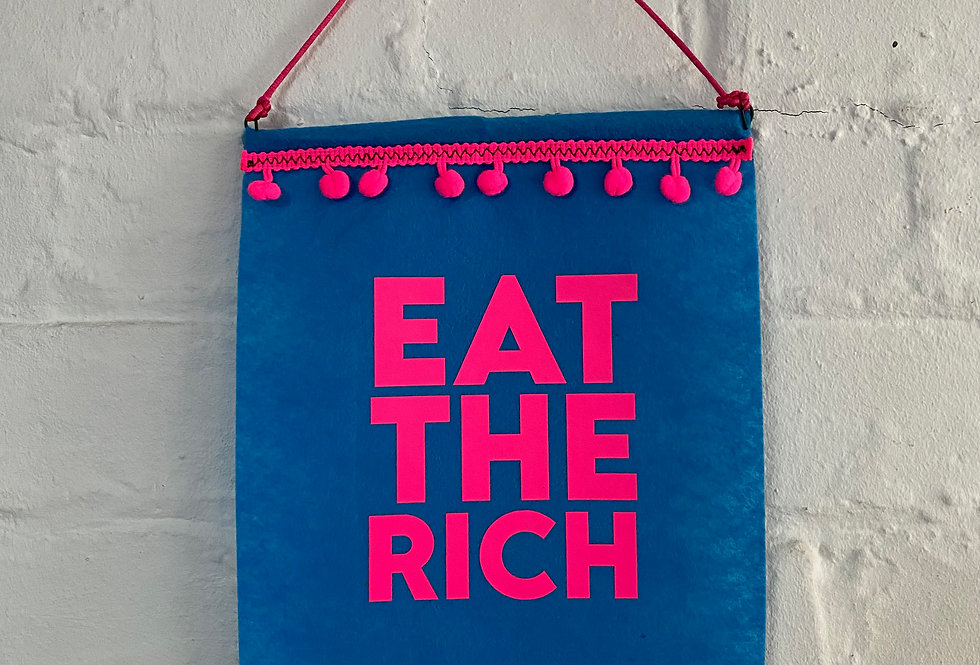 Eat the Rich Small Banner