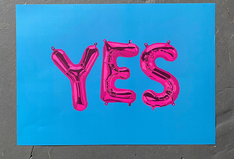 YES Balloons Print A3