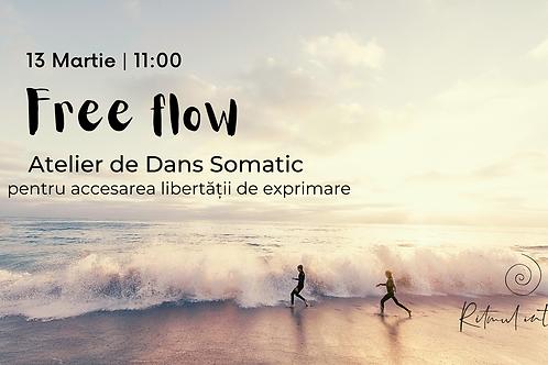 Free flow - Atelier de Dans Somatic pentru accesarea libertății de exprimare