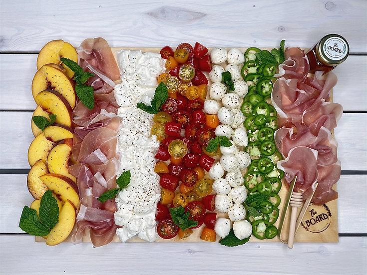 Seasonal Burrata Board