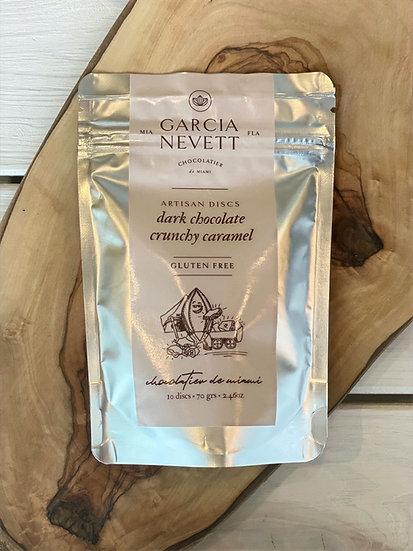 Garcia Nevett Dark Chocolate Crunchy Caramel Discs