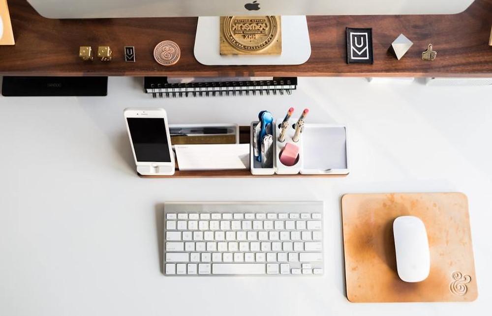 a nicely organized desk
