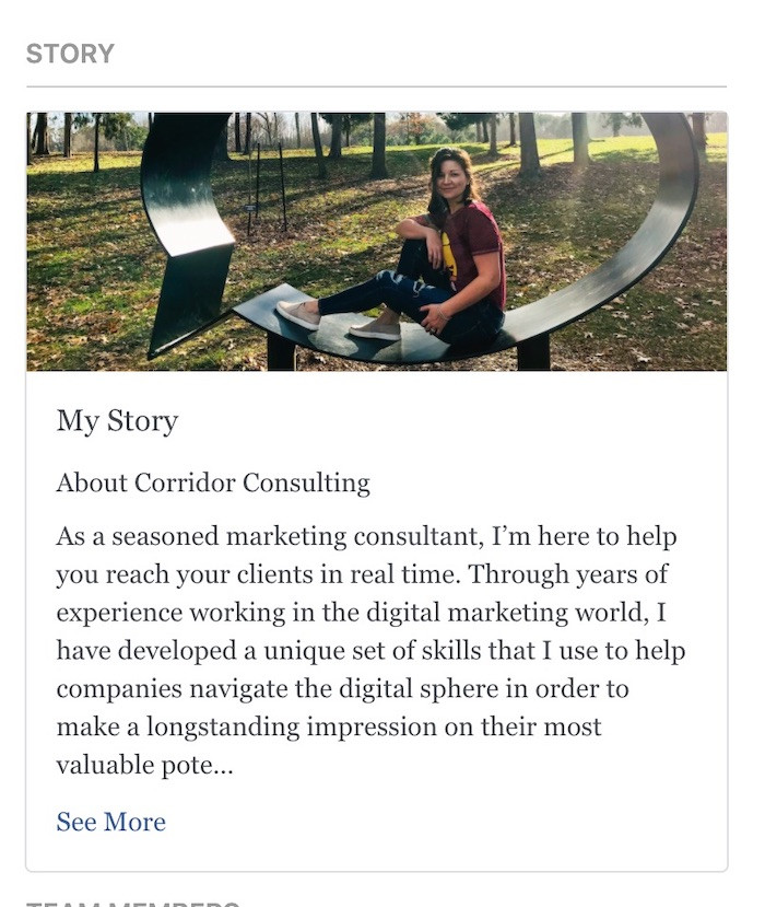the about story for corridor consulting