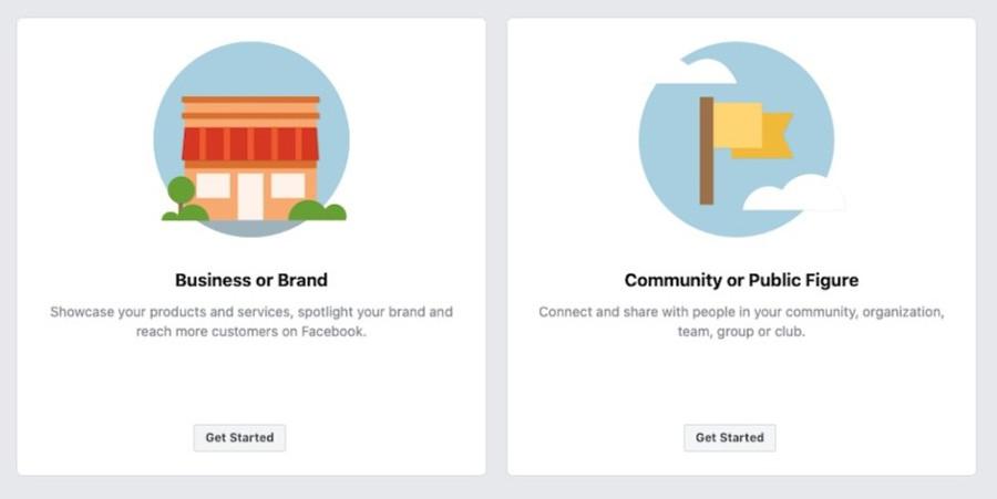 facebook business setup screen