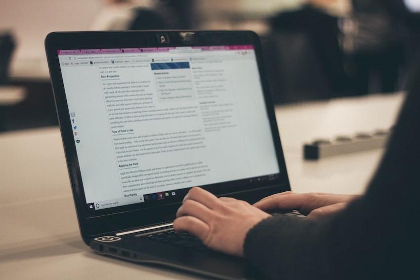 blogging on a website