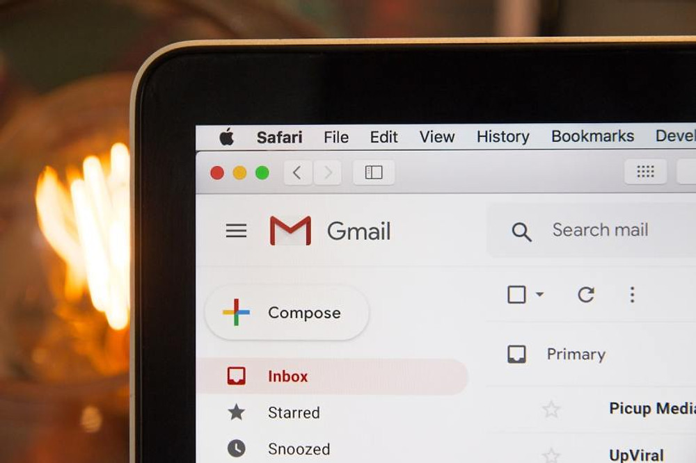 a gmail inbox with personalized emails in it
