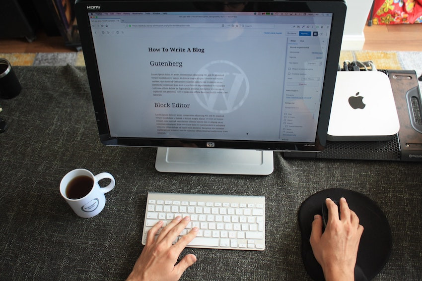 a blog using wordpress