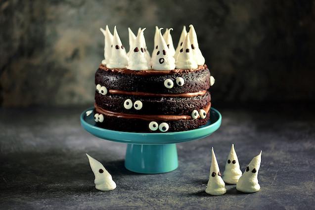 McKenzie's Halloween Ghost Layer Cake