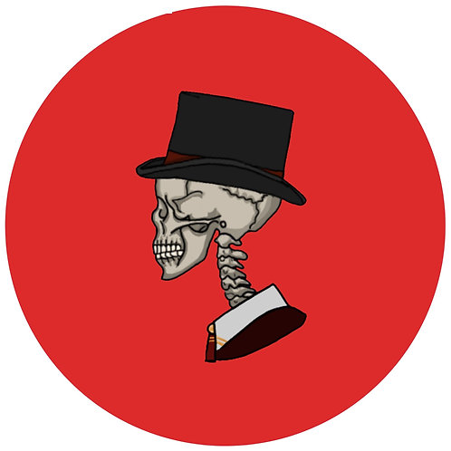 Skull couple - red