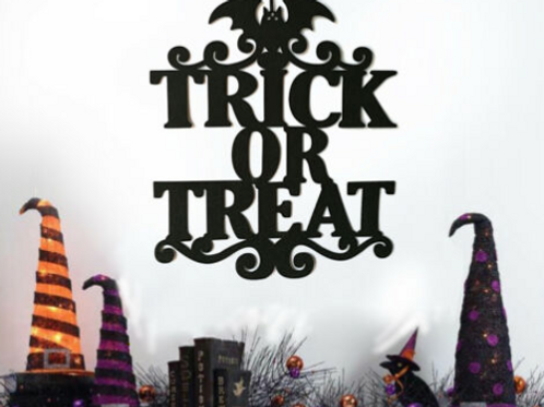 Treat or Treat sign