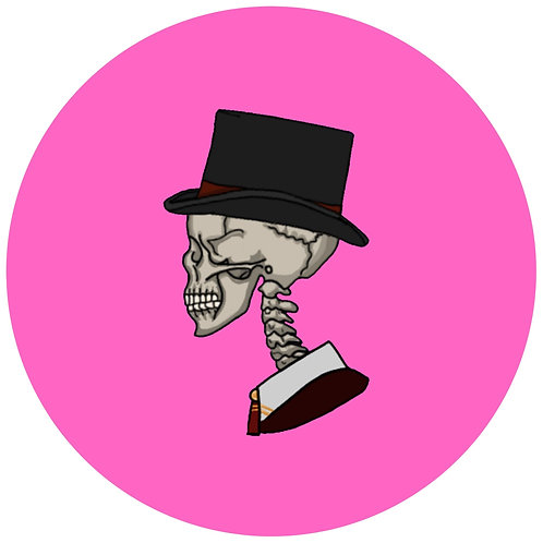 Skull couple - pink