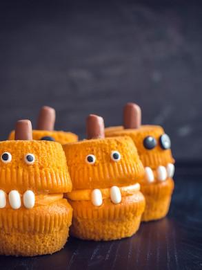 McKenzie's Halloween Monster Cupcakes