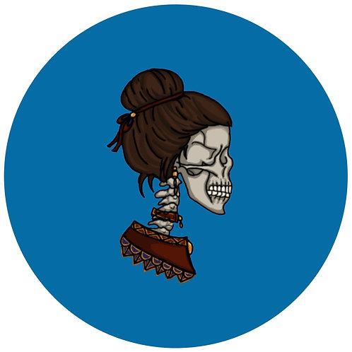 Skull couple - blue