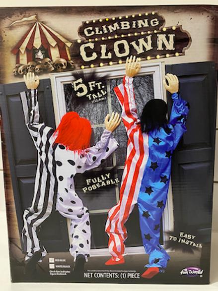 Climbing clown
