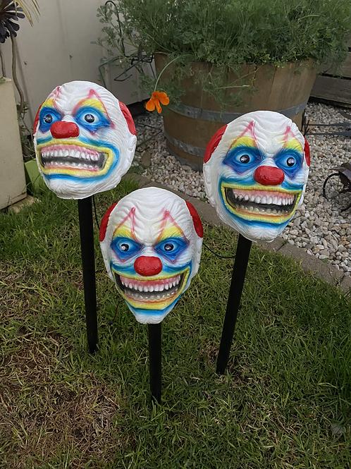 Creepy Clown Lawn Stakes - 3 pack!
