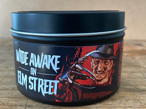 Wide Wake on Elm Street candle