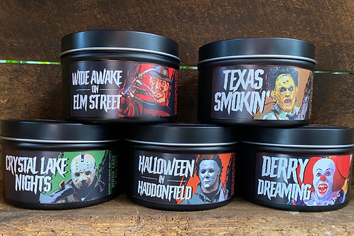 The Big 5! Horror icons candle set