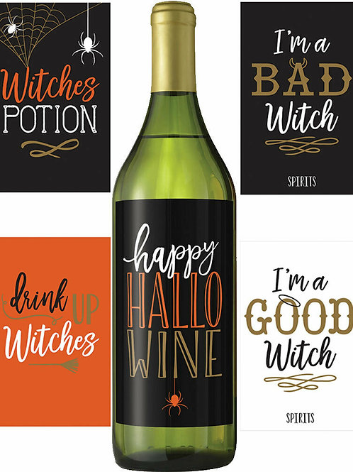 Wicked Bottle Labels - 5 pack