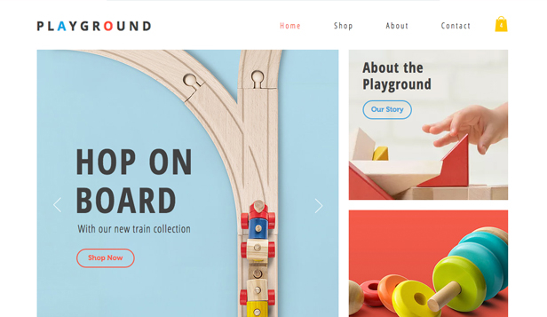 Barn & bebisar website templates – Toy Store