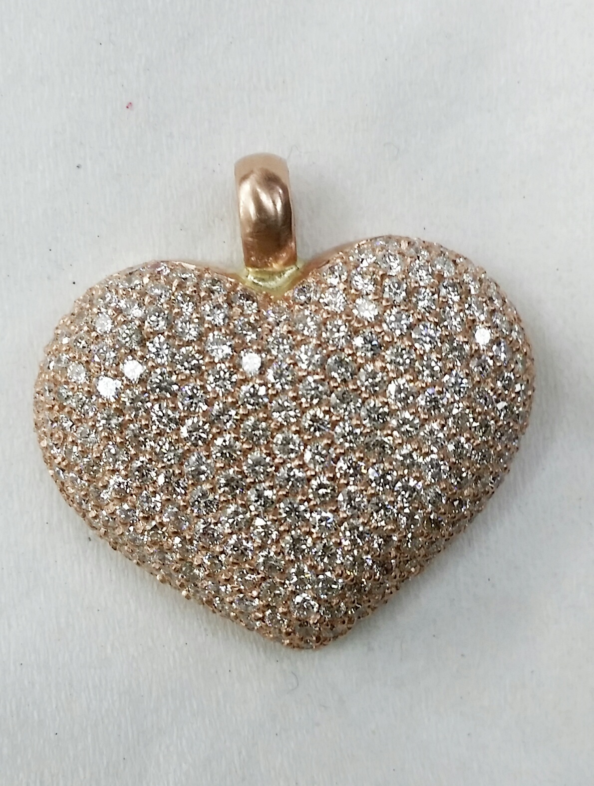 Stone cold iced out heart.
