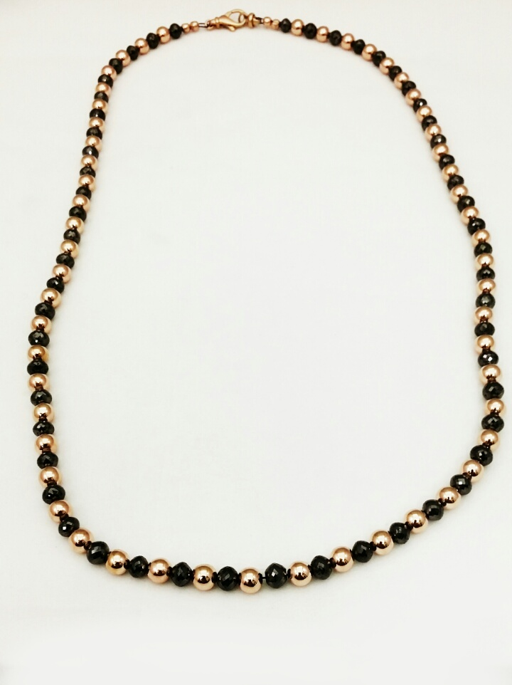 Rose Gold and Black Diamond Necklace