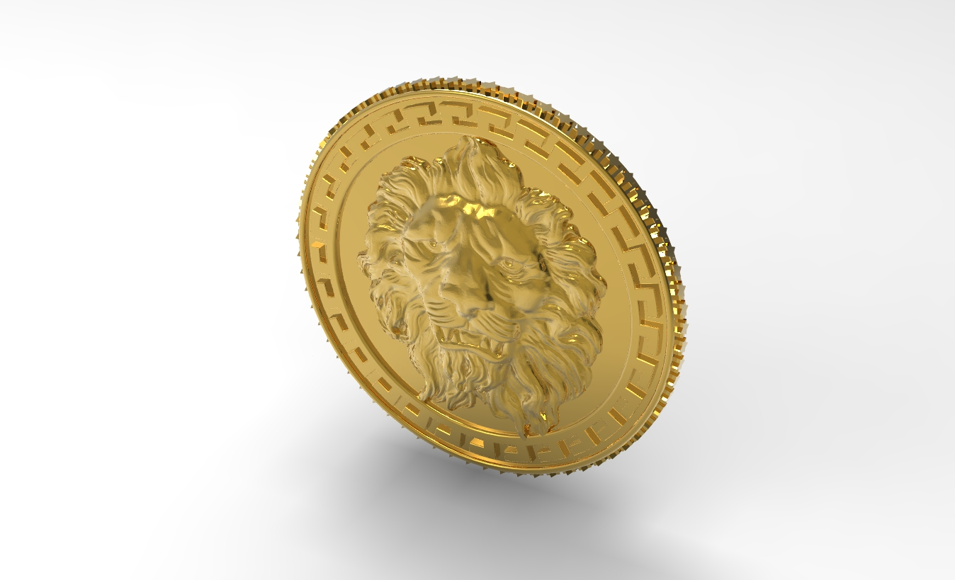 CAD Rendering of Medallion