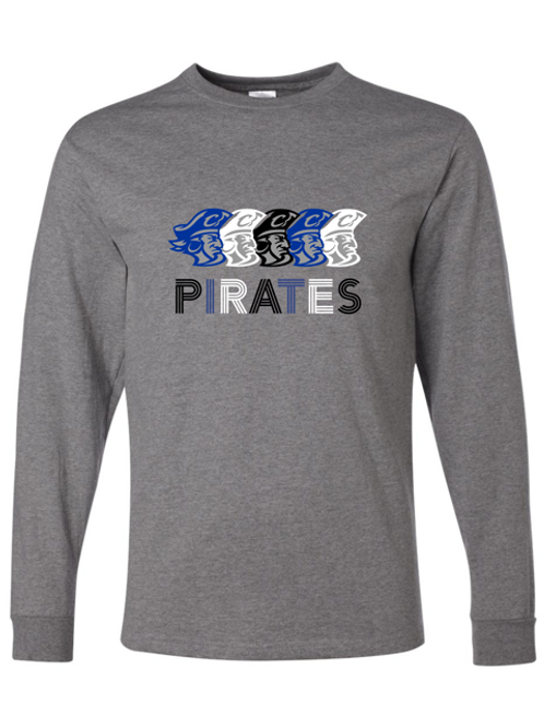 """Pirates"" Adult Long Sleeve Tee"