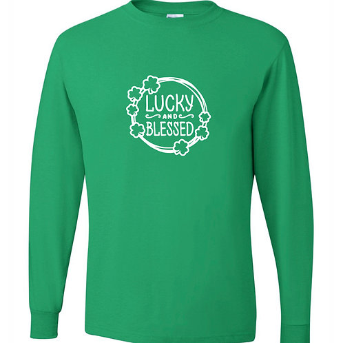 """Lucky & Blessed"" Long Sleeve Tee"