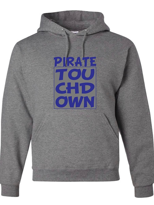 """Pirate Touchdown"" Hooded Sweatshirt"
