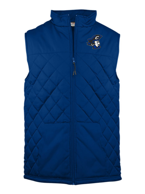 Blue Pirate Head Youth Embroidered Vest