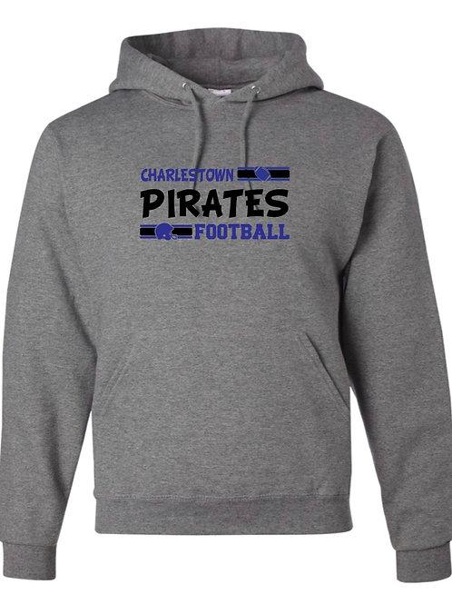 """Charlestown Pirates Football"" Hooded Sweatshirt"