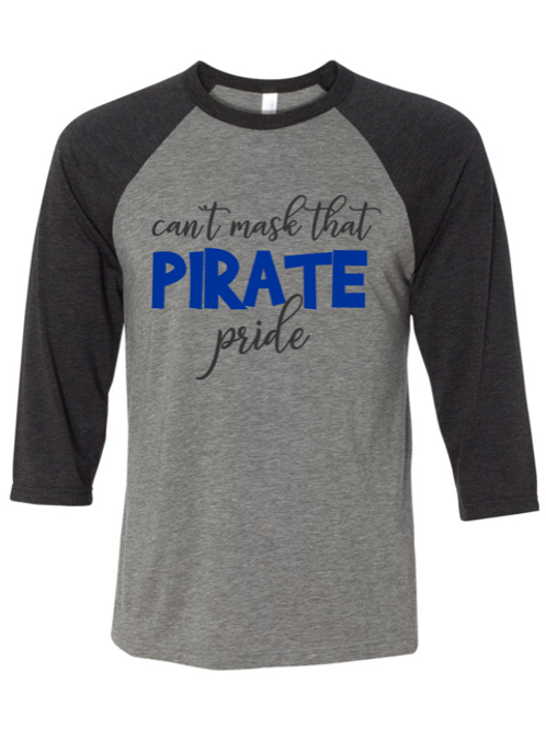 """""""Can't Mask Pirate Pride"""" Youth Baseball Tee"""