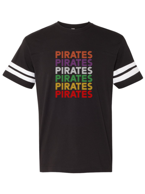 """Pirates"" Repeat Adult Football Jersey Tee"