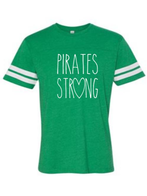 """Pirates Strong"" Toddler Football Jersey Tee"