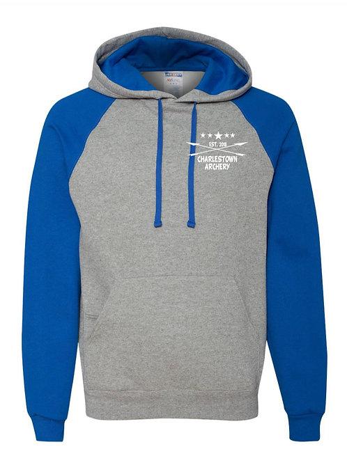 """Archery Life"" Raglan Hooded Sweatshirt"