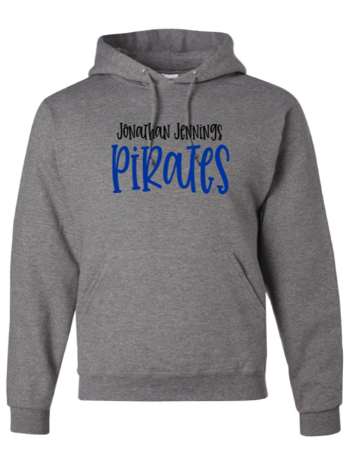 """J.J. Pirates"" Adult Hooded Sweatshirt"