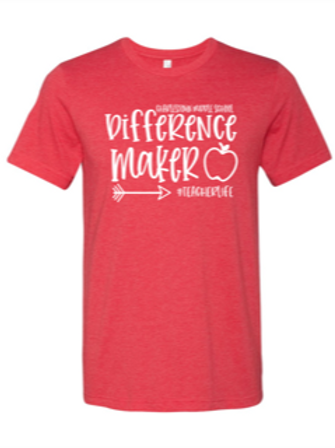 """""""Difference Maker"""" Adult Short Sleeve Tee"""
