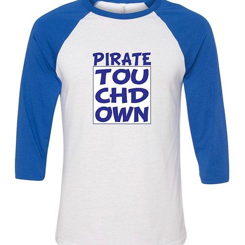 """Pirate Touchdown"" Baseball Tee"