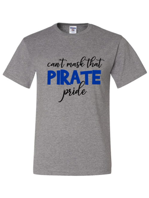 """Can't Mask Pirate Pride"" Adult Short Sleeve Tee"