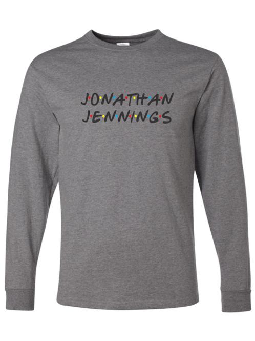 """Jonathan Jennings"" Adult Long Sleeve Tee"