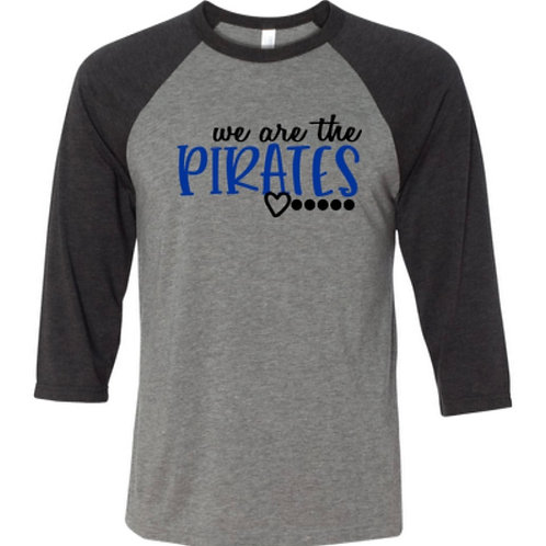 """We Are the Pirates"" Toddler Baseball Tee"