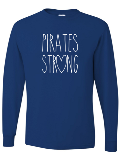 """Pirates Strong"" Adult Long Sleeve Tee"