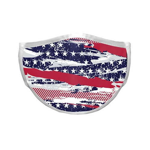 Abstract American Flag Adult Face Mask